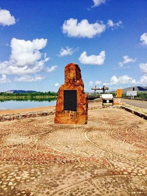 Monument for Ord River Scheme at Kununurra