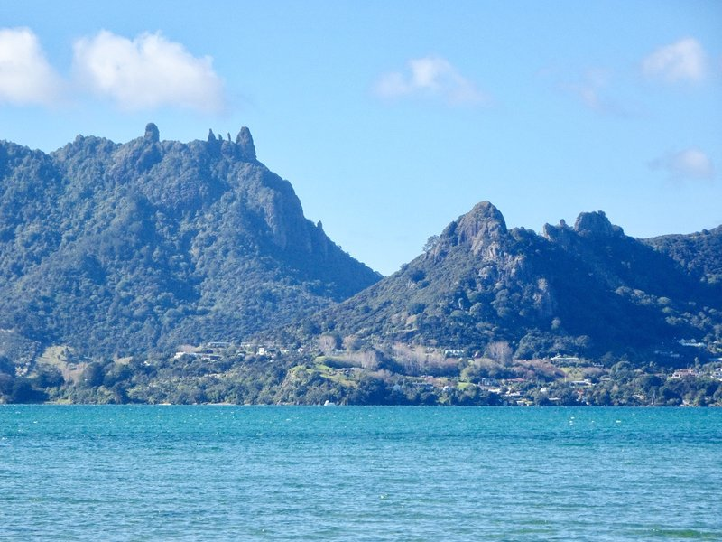 We passed by Mount Manaia on our way to Ocean Beach. By Maori legend, the five rocky outcrops on Mount Manaia, are people who were struck by lightening and turned to stone. Mount Manaia is actually one of several remnants of volcanic action that overlook the Whangarei Harbor.