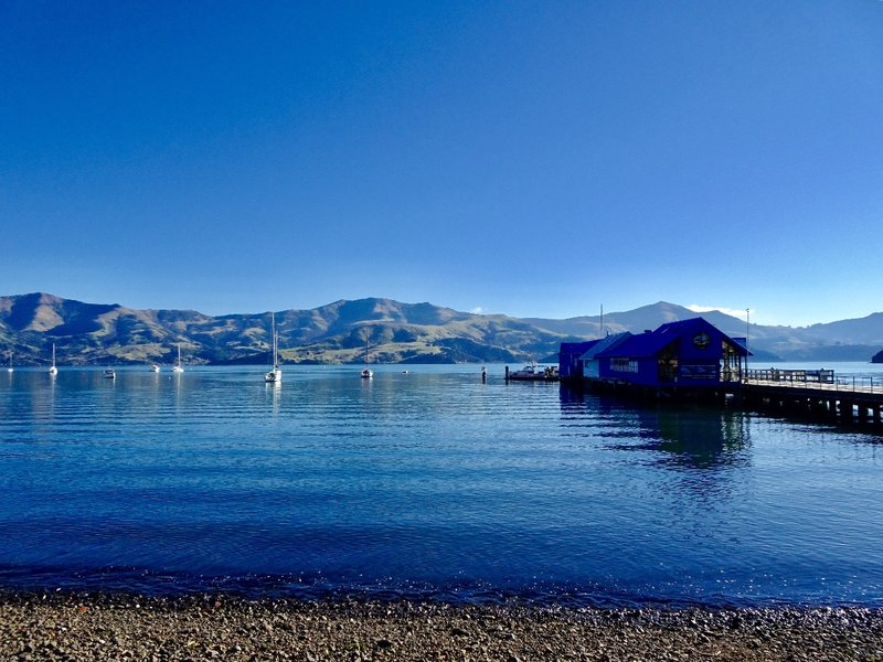 This wharf at Akaroa looks out onto French Bay.