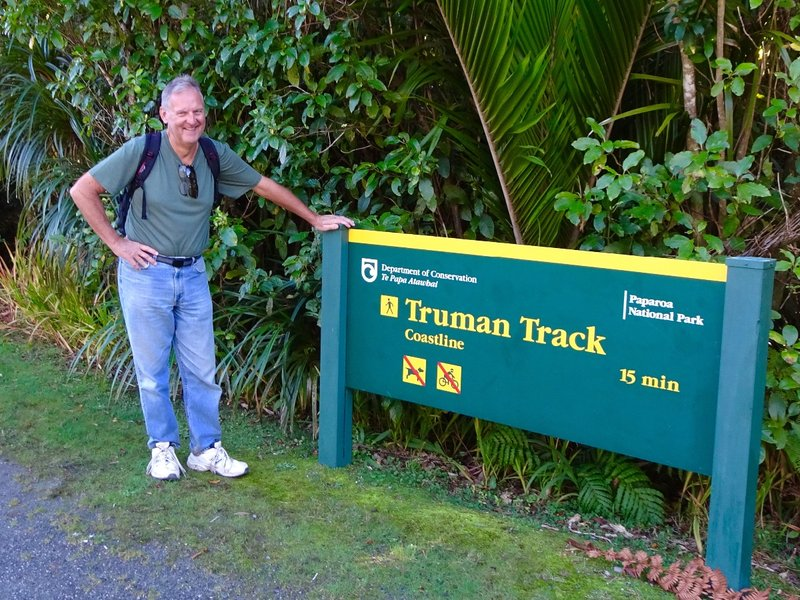 Of course, a certain Truman grad wasn't going to pass up checking out this track! It was named for Jim Truman from the nearby town of Greymouth. He spent two years creating the track in the 1950's. The NZ government would allow no trees or shrubs to be removed for the track; each one was uprooted and repositioned if it sat along the track.