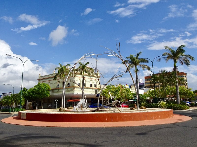 The fountain at Bourbong Street in Bundaberg.