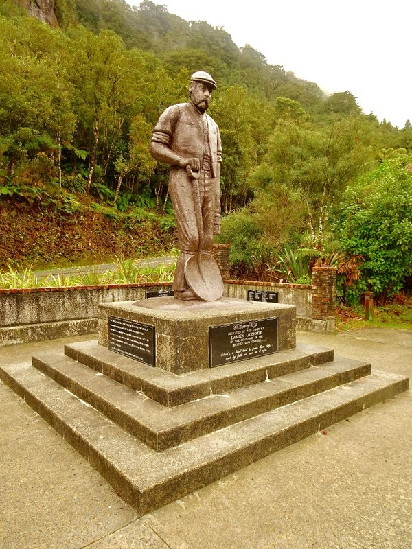 A memorial to the 65 coal miners who lost their lives here in 1896.