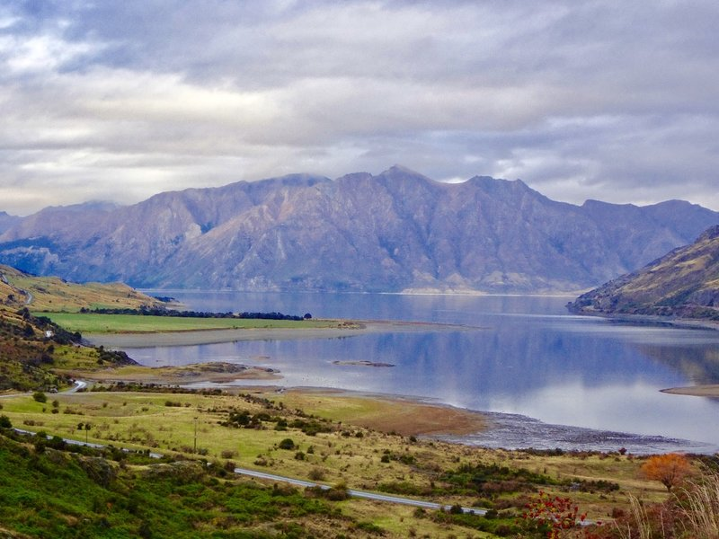 Our first view of Lake Hawea
