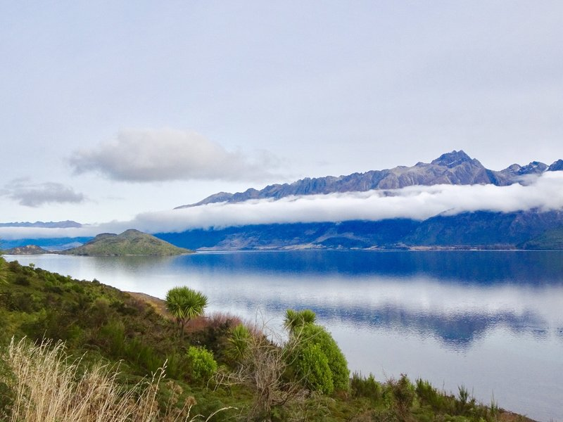 On our way to Glenorchy, we drove along the shoreline of Lake Wakatipu. We passed by Pig and Pigeon Islands which lie in the middle of the lake..