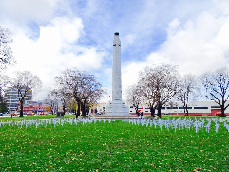 The Dunedin Centograph is located in Queens Gardens; this war memorial was built in 1927 from Italian marble.