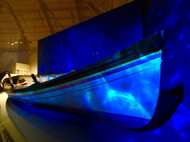The 'Maori Girl' is a former whaling boat that has been restored for the Settlers Museum.