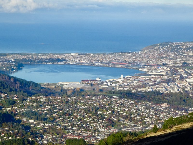 The city of Dunedin sits 13 miles from the mouth of the harbor, at the point where the Otago peninsula and mainland meet.
