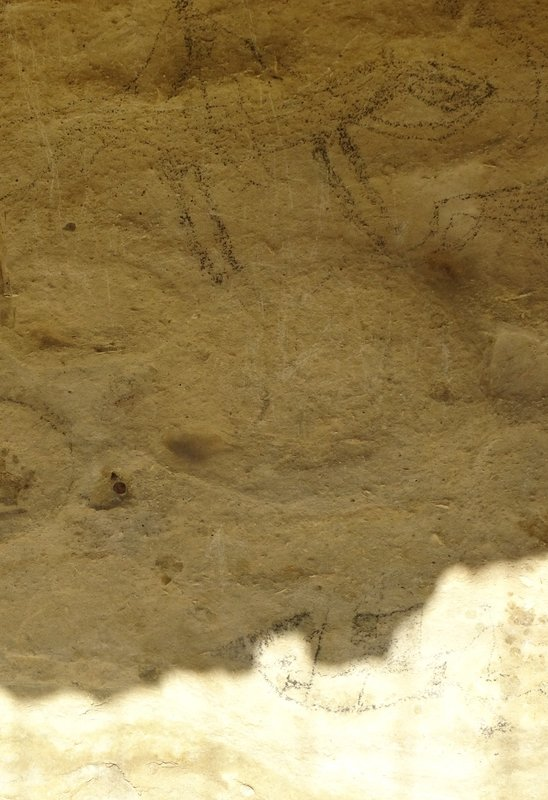 The Takiroa Maori rock drawings were sketched by a European in 1852, making them one of the earliest archaeological recordings in NZ. The drawings are faint; some were removed years ago for museums etc. before that was a big no no.