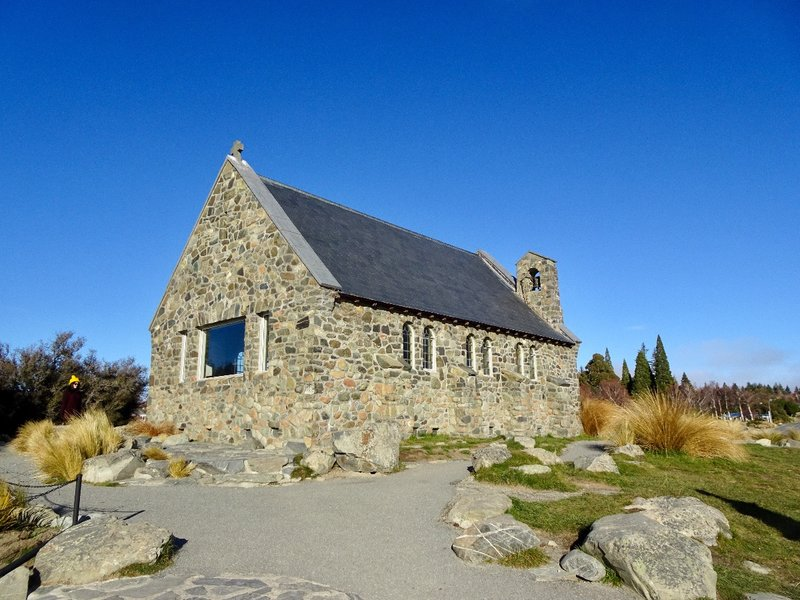 The Church of the Good Shepherd was built in 1935 as a memorial to the pioneers of the Mackenzie region. It is an interdenominational church that looks out over Lake Tekapo and  the surrounding mountains.