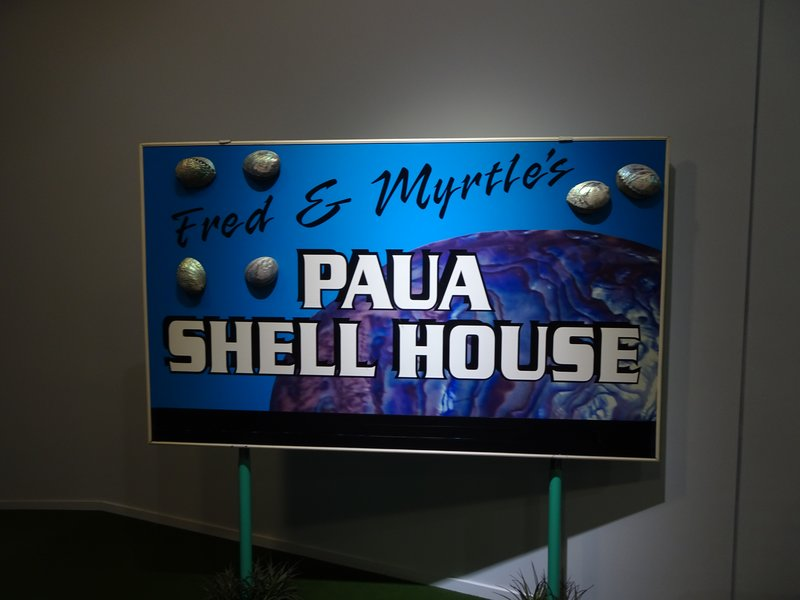 A favorite inside the Canterbury Museum is this exhibition showcasing over a 1000 paua (abolone) shells. The shells are part of a collection that adorned the walls of Fred and Myrtle Flutey's home in Bluff,  on the bottom of the South Island. After Fred ran out of room for his collection, they started putting them on the walls of their home and inviting visitors in to view them.