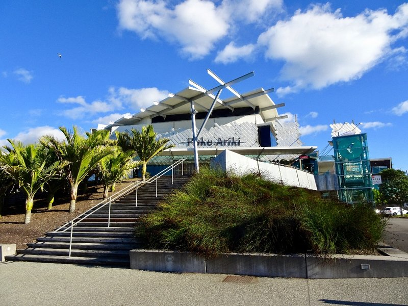 """Puke Ariki is described as """"the world's first purpose-built, fully integrated museum, library and visitor information center."""""""