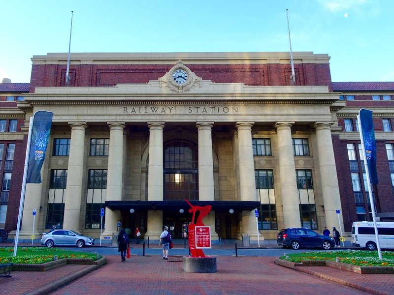 The Wellington Railway Station.