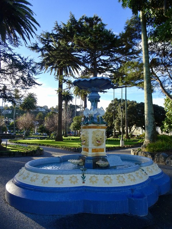 The 1904 William Blythe Memorial Fountain at Clive Park.
