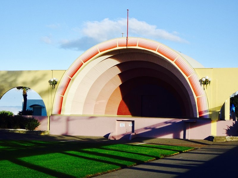 The Marine Parade Sound Shell is one of the best examples of Art Deco in Napier.