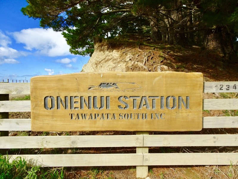 We drove along the coastline of the Mahia Peninsula until we reached the large Onenui Station.