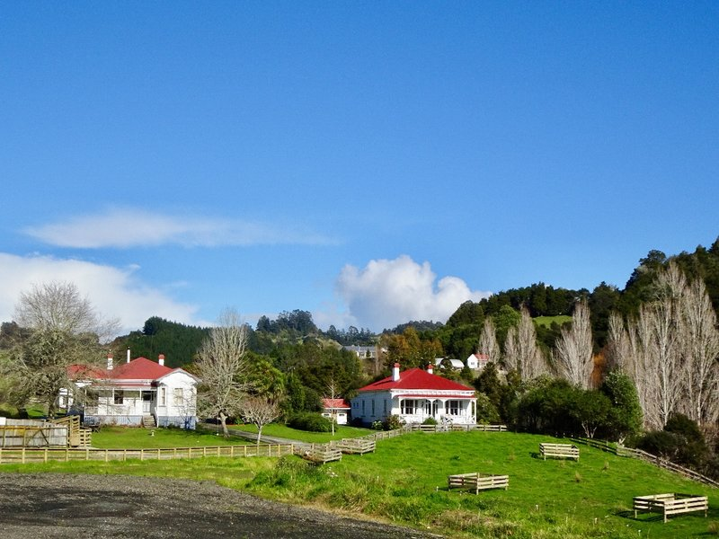 A couple of homes in the Puhoi village.
