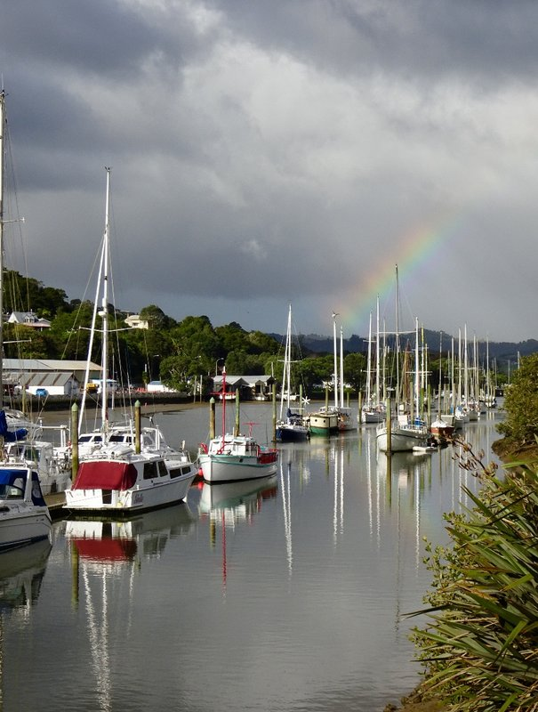On the way to Bream Bay and the Tasman Sea, the Hātea River runs through the center of the town basin..