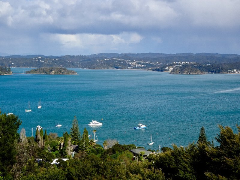 This view is from Flagstaff Hill; it looks out on a small part of the Bay of Islands.