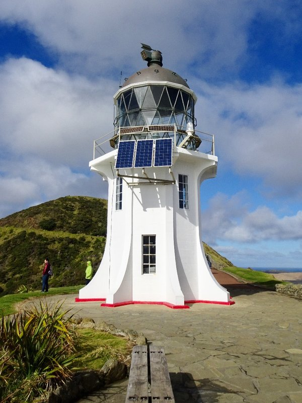The Cape Reinga Lighthouse is one of NZ's iconic landmarks. Completed in 1941, it was the last watched lighthouse built in NZ. It became fully automated in 1987; it has not been manned since then.