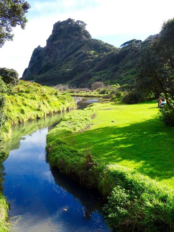 The walk between Karekare Falls and the Karekare Beach, follows this stream.
