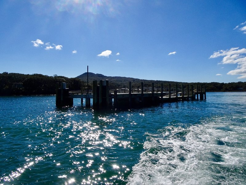 The view of Rangitoto is from the ferry heading back to Auckland.