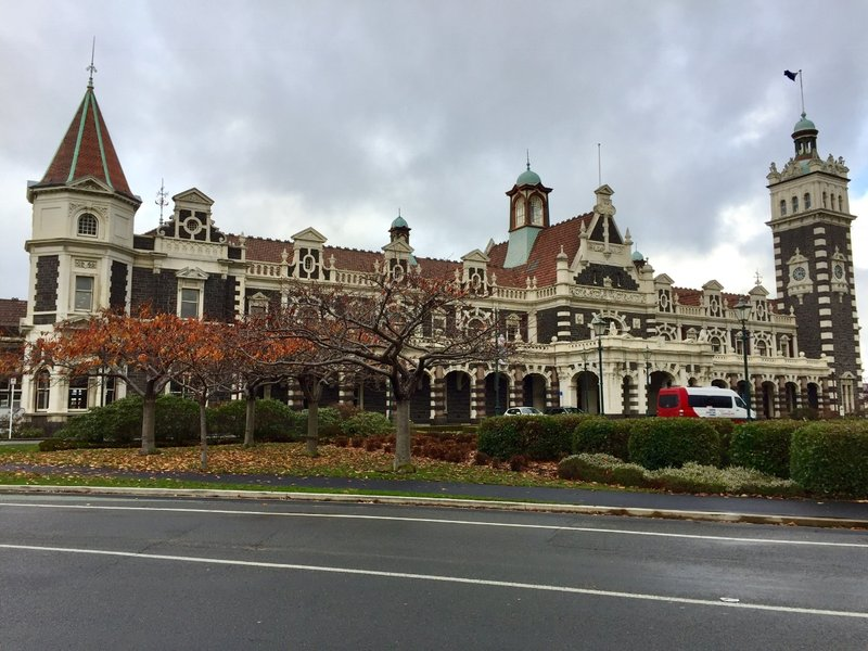 The Dunedin Railway Station rates right at the top of our list of pretty rail stations that we have seen on this trip.