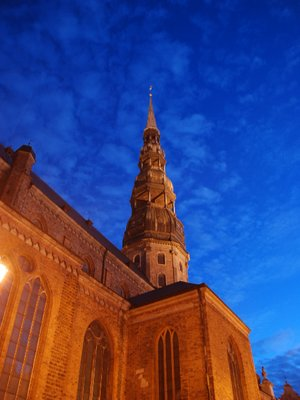 Riga - the Cathedral at night