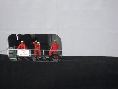 Panama - Crew on boat