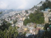 A bird's eye view of Darjeeling town