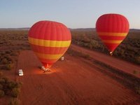Ballooning over outback