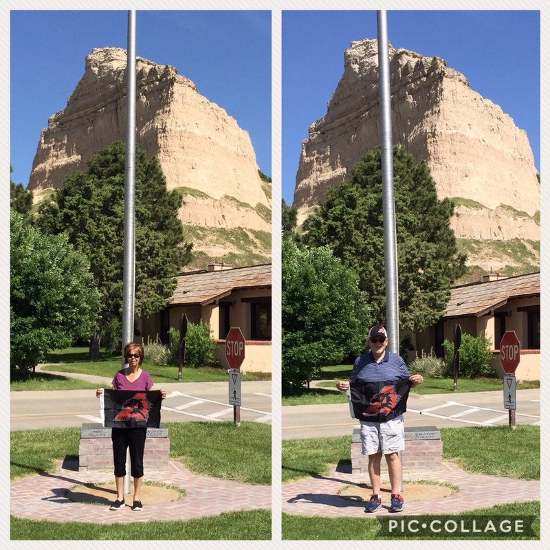 Don & Linda Dinnel at Scottsbluff National Monument in Gering, Nebraska!