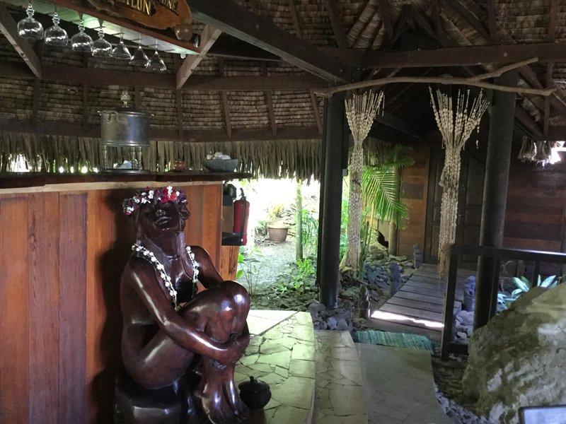 Living room statue