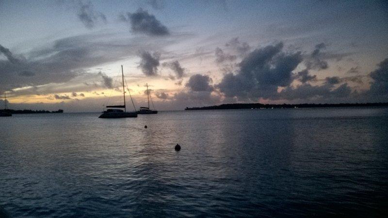 Evening lagoon view
