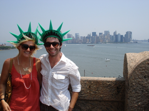Sarah and Dave in NY Harbour
