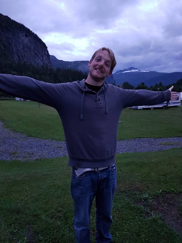 James taking a midnight stroll in Norway