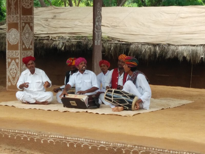 Cultural performance at Shilpgram, Udaipur (Rajasthan)