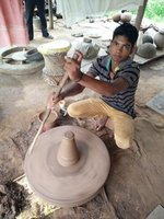 Potter at Shilpgram - encouraging ancestral craft, Udaipur (Rajasthan)