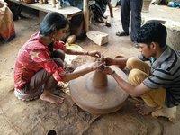 Pottery at Shilgram, Udaipur (Rajasthan)