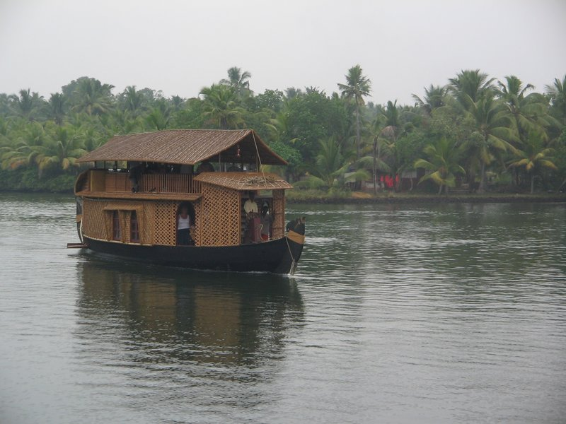 Traditional House-Boat in the backwaters of Kerala