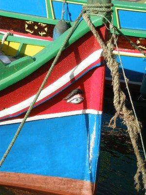 Maltese fishing boat with lucky eye