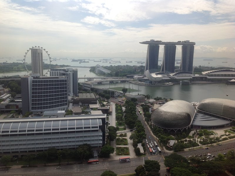View from my Singapore hotel room