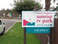 Santa Barbara Sunrise RV Park sign