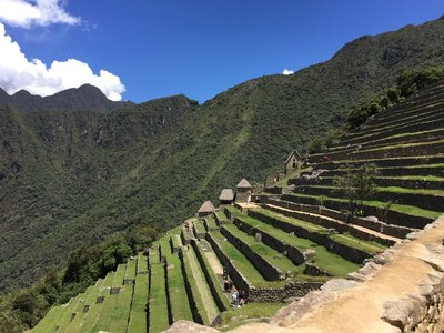 Machupicchu terraces and the Sun Gate