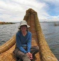 Reed Boat from the Uros Islands on Lake Titicaca, Peru