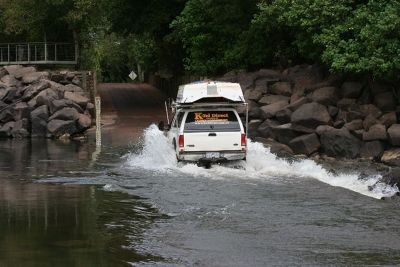 Driver pictured above going back into Kakadu