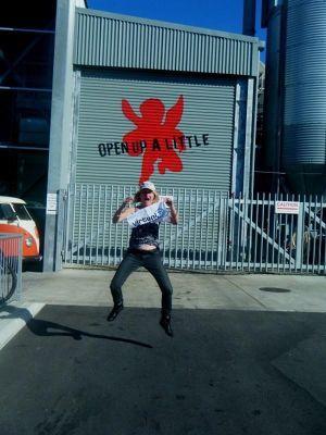 aussirose jumps for jumpingnorman at Little Creatures