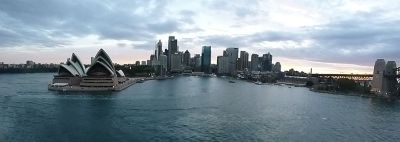 Sydney Harbour - Circular Quay - View from Carnival Spirit Cruising out.