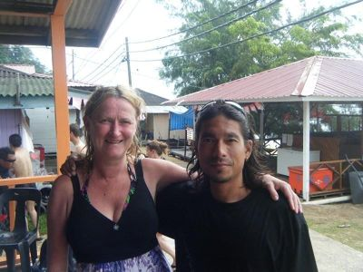 aussirose and Adrian, diving instructor.