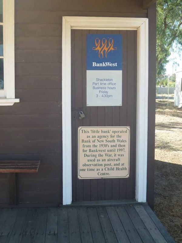 Bankwest owns the Smallest Bank in Australia - Shackleton