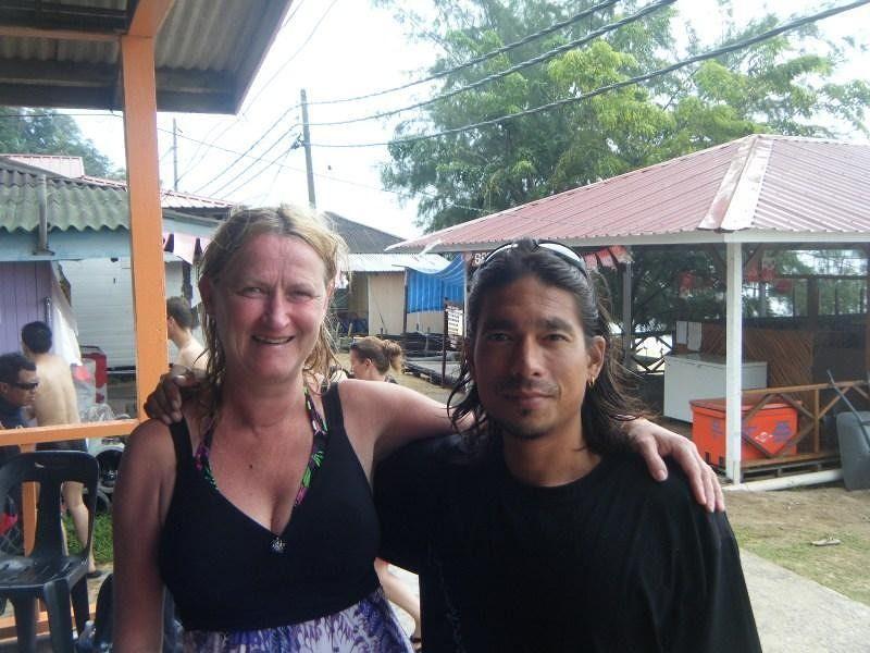 aussirose and Adrian - diving instructor - Pulau Tioman